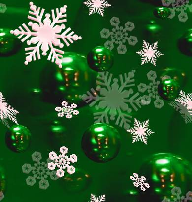 Christmas snowflake green seamless tile