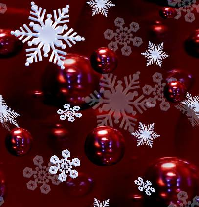 Christmas Snowflake Red Seamless Background