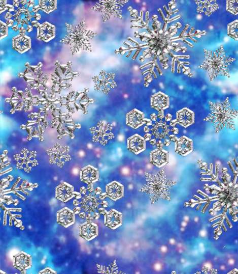 Silent Night Christmas Snowflake Background Seamless Repeating